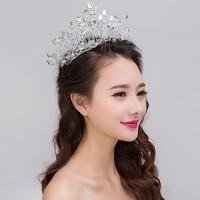 New Fashion Tiara Nuziale di Cristallo Handmade Morbido Corona Stile Coreano Abito Da Sposa In Rilievo Strass Ornamenti Per Capelli Fasce Per Capelli