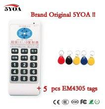 5YOA Handheld 125 Khz a 13.56 MHZ Duplicatore ID IC Card Reader di accesso RFID frequenza di Scrittura Copier + 5 pz 125 KHZ EM4305 tags