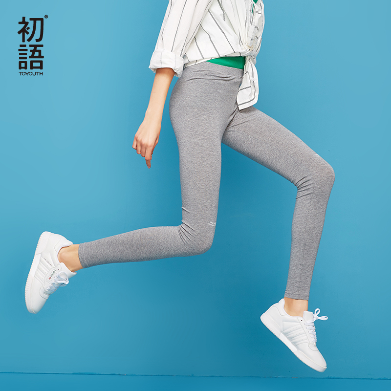 Toyouth 2019 Summer Elastic Leggings Women Slim Print High Waist Pants Outside Wear Bottoms Stretchy Casual Sporting Leggings