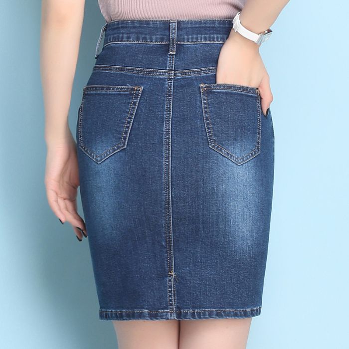 Spring Summer Women Sexy Embroidery Quality skirts Female fashion floral Jeans short Skirt slim Rise Hip casual clothing