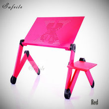 SUFEILE New arrival Portable Folding Laptop Table bed table home Furniture Aluminum laptop computer desk D5(China)