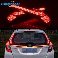 2PCS LED Rear Fog Lamp For Honda Fit Jazz 2014 2017 2018 2019 Car LED Bumper Light Brake Light Reflector Rear Decoration Lamp