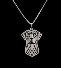 Sell 1pc Rhodesian Ridgeback Necklace 3D Cut Out Puppy Dog Lover Pendant Memorial Necklaces Pendants Christmas Gift for friends
