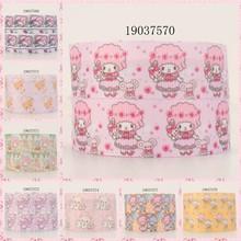 10 jardas-tamanhos diferentes-bonito dos desenhos animados fita urso padrão impresso fita de gorgorão 19037569