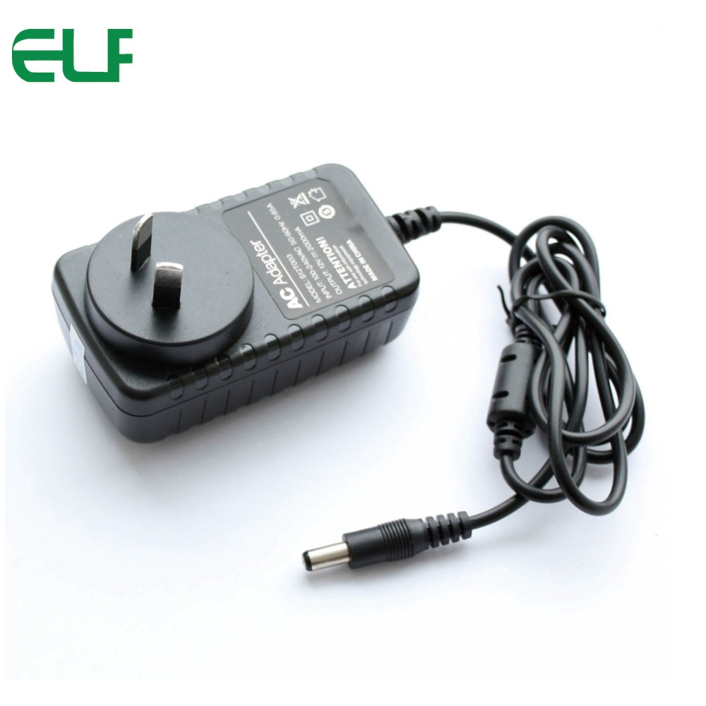ELP AU plug AC DC power supply Wall Adapter charger 12V 2A 2.1mm 100-240V 2 pin