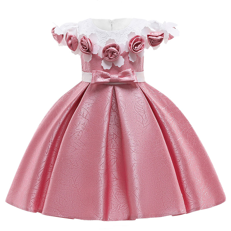 HTB1u8aeRzTpK1RjSZKPq6y3UpXar Kids Dresses For Girls Elegant Princess Dress Christmas Children Evening Party Dress Flower Girl Wedding Gown vestido infantil