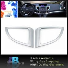 2pcs Car Air Condition Vent Outlet Cover Frame Trim For Honda CRV CR-V 2012-2015 Chrome Adhesive ABS Frame Decoration цена в Москве и Питере