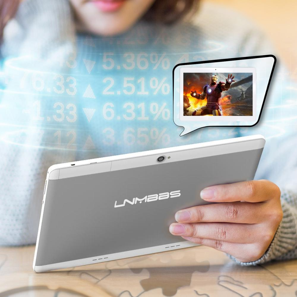 LNMBBS Tablet 10.1 android 7.0 tablets function tablet game music quad core wifi 1280*800 IPS dual cameras ultra slim 4+32GB 3G