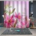 Индивидуальный Душ занавес для ванной комнаты перегородка 1,5x1,8 м 1,8x1,8 м 1,8x2 м цветочный розовый