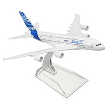 KIWARM 16cm Metal Plane Model Aircraft Airbus A380 DHL Kargo Aeroplane Scale Desk Toy Decoration Crafts Figurines & Miniatures(China)