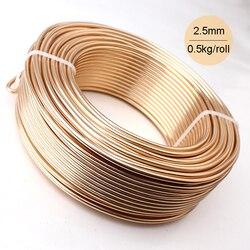 الجملة 0.5 كيلوجرام بأكسيد الألومنيوم الحرفية الفنية سلك 2.5 ملليمتر 10 قياس 39 متر 43yd الملونة المجوهرات والمعادن الأسلاك الألوان الدائم