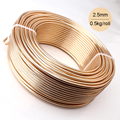 Wholesale 0.5kg Anodized Artistic Aluminum Craft Wire 2.5mm 10 Gauge 39m 43yd Colored Jewelry Soft Metal Wire Permanent Colors