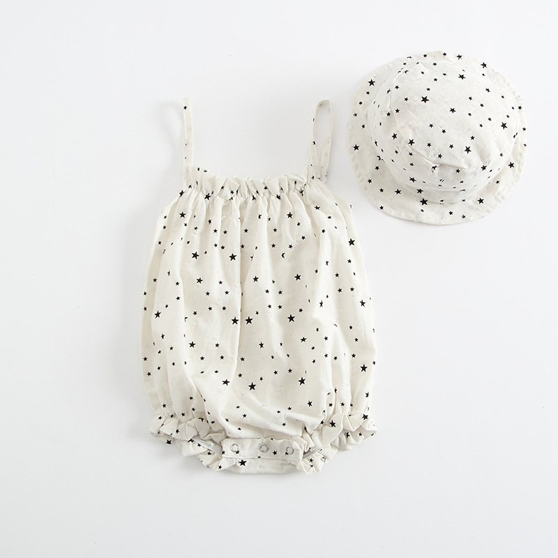 c55cb2f6b3a7 FEE HUG Newborn Cotton Rompers Baby Girls Summer Cute Star Strapless  Jumpsuits With Hats Korean Boys Clothes For Toddlers-in Rompers from Mother    Kids on ...