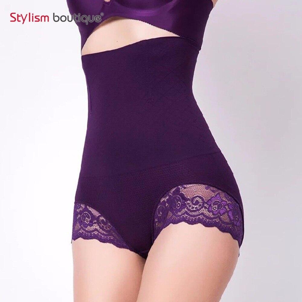 7f0f08a4281 New Waist Trainer Womens Shapewear Bodysuit Buttock Enhancer Short Extra  Firm Sexy Sheer Shaping Hi-Waist Brief