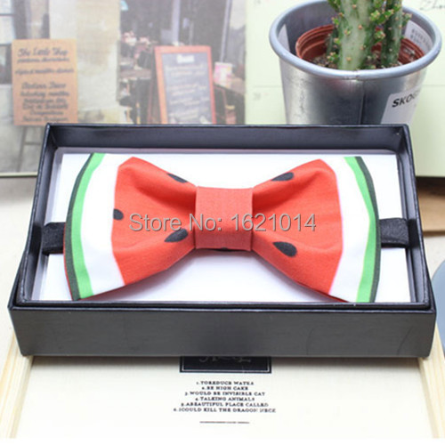 Fashion Handmade Watermelon Bow Tie High Quality Wedding Dress Butterfly Ties For Men Corbatas Women Bowtie With Gift Box