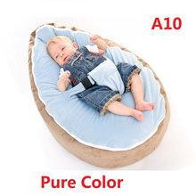 New Multicolors Baby Beanbag Pouf Portable Baby Chair Folding mama sandalyesi Harness Safety Belt Filler do not included