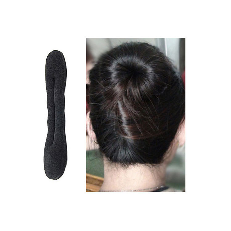 1PC Black Hair Accessories For Women Magic Hair Styling Tools Hairpins Twist Donut Hair Disk DIY Sponge Hair Bun Meatball  цены