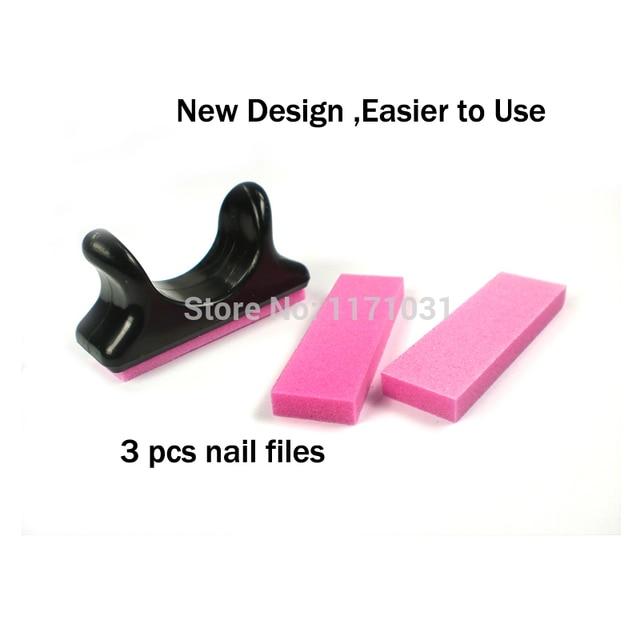 Brand new nail file buffer pink mini curve nail files 100/180 good ...