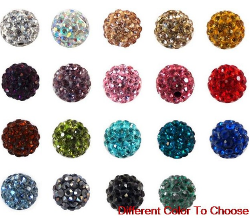 Jewelry & Accessories 50pcs Dia 10mm 32 Colors Shamballa Beads Crystal Disco Ball Beads Shambhala Spacer Beads Shamballa Bracelet Crystal Clay Beads Discounts Sale