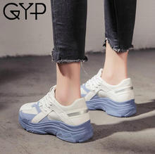 GYP High Quality Women Sneakers Sport Shoes Walking Shoes 2018 Spring Sports Shoes Leather Mesh Breathable Sports Shoes YC-178