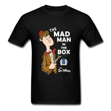 Men's Crew Neck The Mad Man in the Box Tee Tops Clothing Doctor Who DR WHO 2017 New Short T-Shirt Men Flower Shirts For Guys