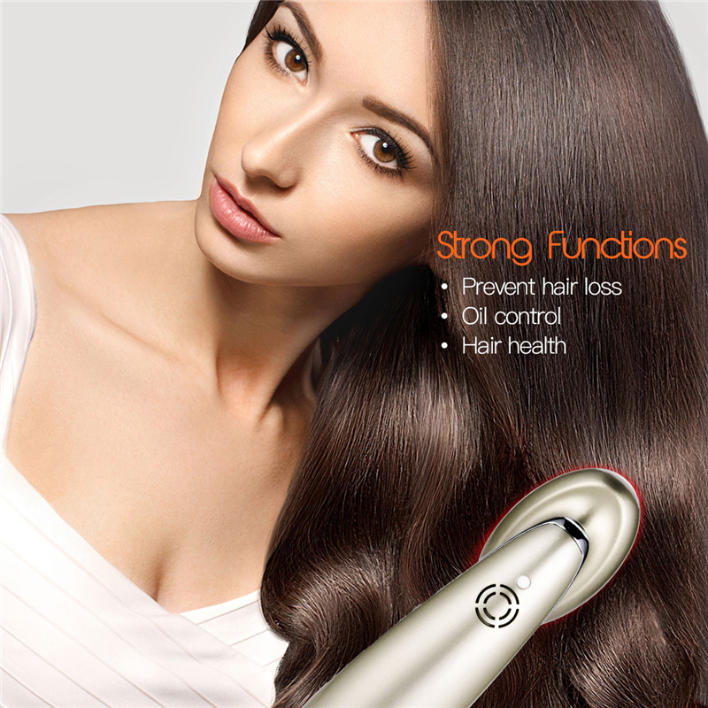 Multifunction Hair Regrowth Comb RF Micro Current EMS Infrared Laser Vibration Massage Comb Hairdresser Hair Health
