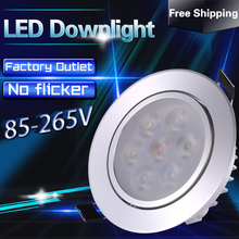 1pcs Spot Led Embutir Recessed Led Spotlight Ceiling Light Lamp Led Downlight 3w 5w 7w 9w 12w Downlights 110v 220v 240v