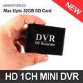 Novo Mini DVR Suporte Cartão SD Real-time XBOX HD Mini 1 Canais Placa DVR MPEG-4 de Compressão de Vídeo