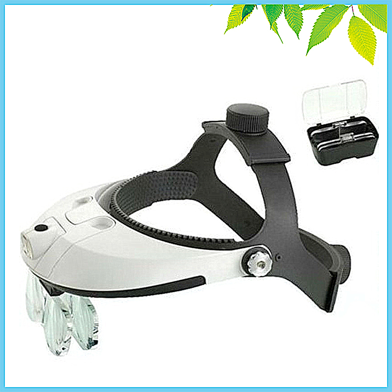 Multi Power LED Illumination Hand Free Headband Magnifying Glass Helmet Magnifier Repairing Head Visor Dental Surgical Loupe 3led magnifier for dental surgical and watch repairing and reading magnifier with lighted adjustable helmet head mounted magnify