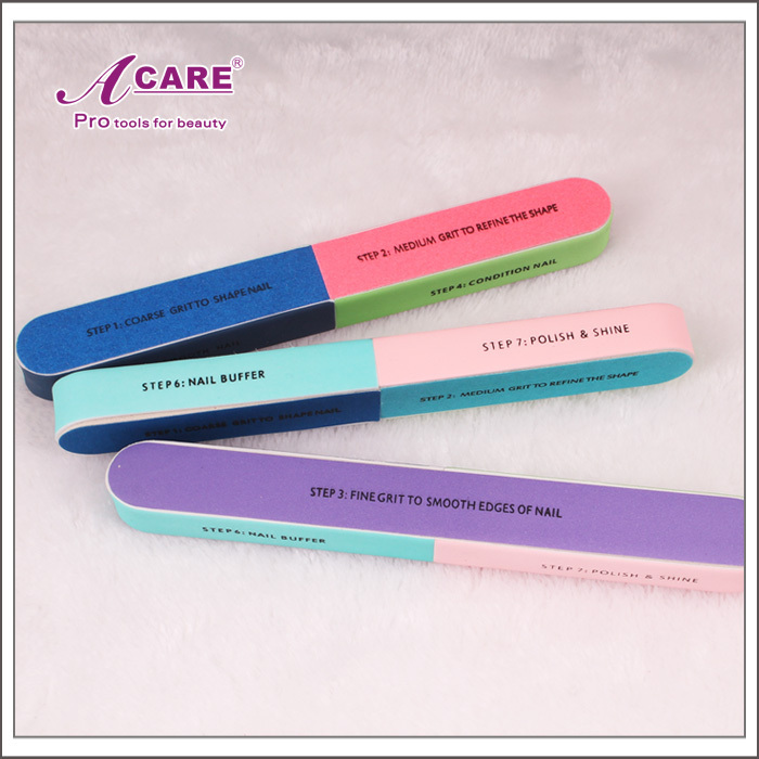1 PCS Professional colorful 7 Sizes nail files for nail art care ...