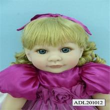 20 inch 50cm reborn  Silicone  dolls, lifelike doll reborn babies toys Blonde hair girl