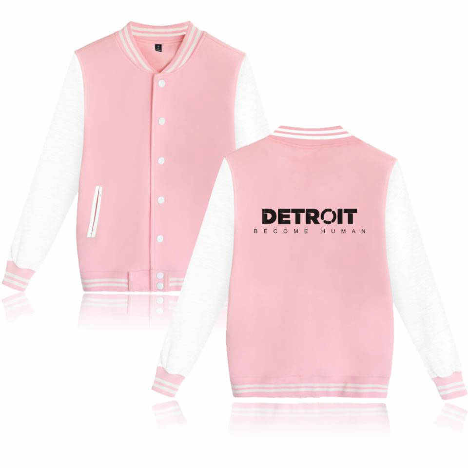 Drop Shipping New Fashion Detroit Become Human Baseball Jackets Plus Size Bomber Jacket Women Casual Spring Jacket Women Coat