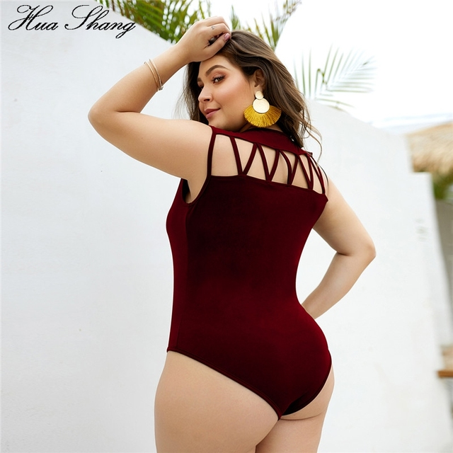 Plus Size Womens Overalls Combinaison Short Femme Bodycon Coss V-Neck Hollow Out Back Sexy Bodysuits Jumpsuit Body Feminino