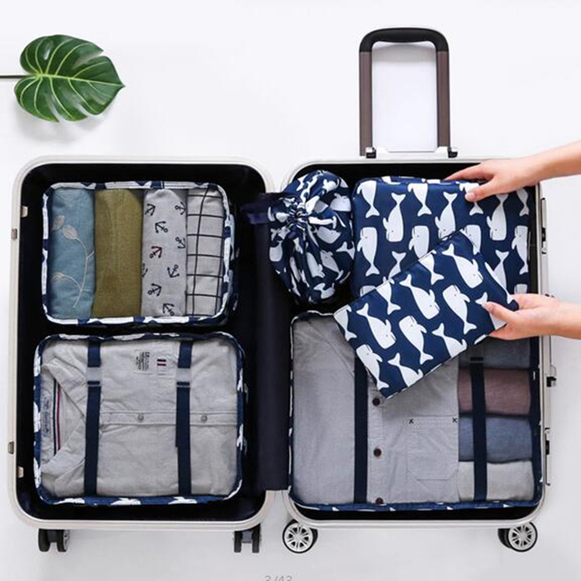 6PCs /Lot Travel Storage Bags Set Portable Tidy Suitcase Organizer Clothes Packing Home Closet Divider Container Bag