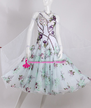 Standard Ballroom Dresses White Color High Quality Stage Show Tango Waltz Flamenco Ballroom Competition Dance Dress