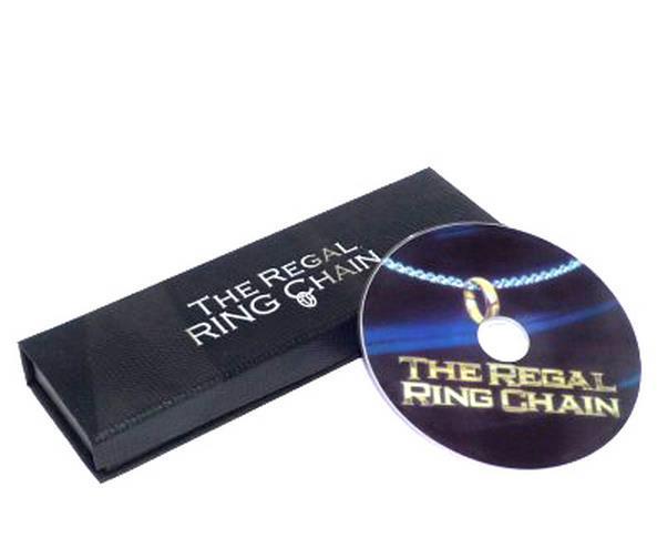 372ff8e67d618 Ücretsiz kargo! Regal Halka Zinciri (DVD + Hile)-MagicTrick, sahne/closeup,  yangın, sahne, komedi, Aksesuarlar
