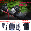 NEW Bicycle Light bike XM-L U2 led Head HeadLight 2000Lm Waterproof Bike Front Light LED HeadLamp +8.4v Battery Pack & Charger