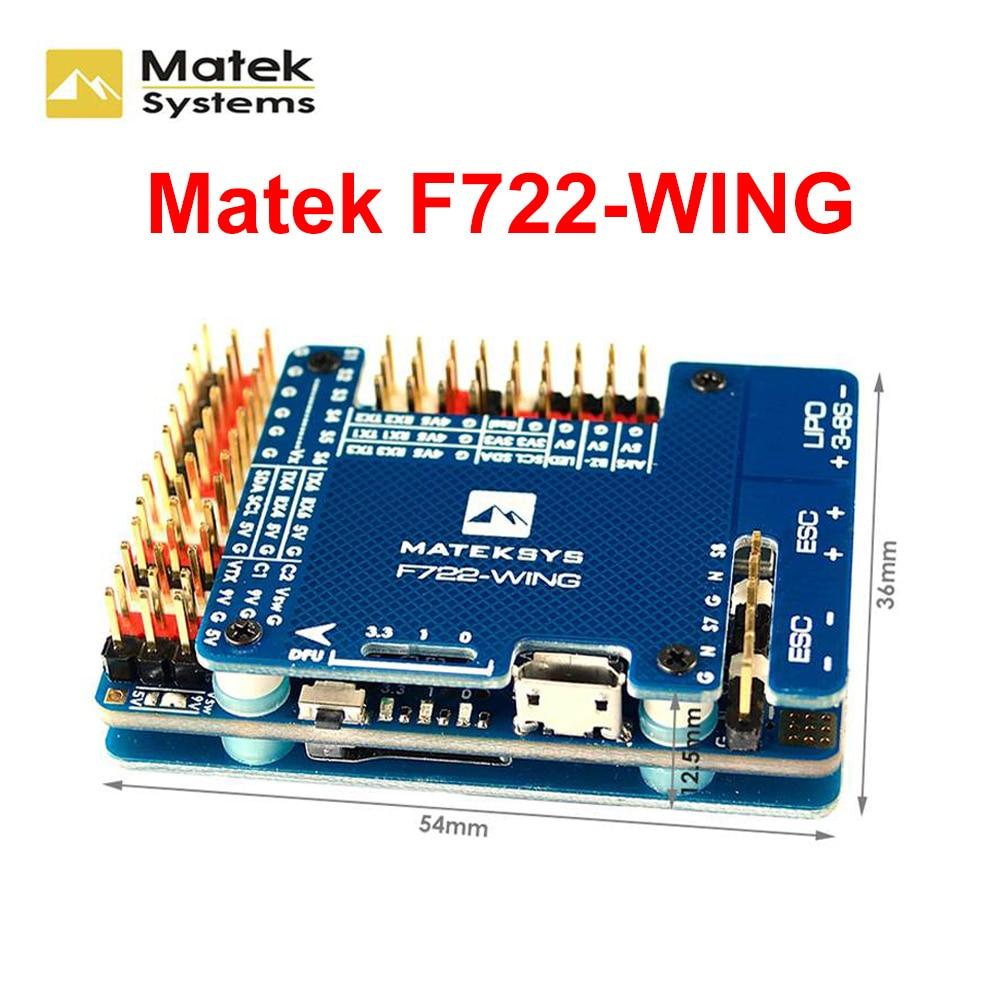 Оригинальные Matek системы F722-WING STM32F722RET6 Контроллер полета Встроенный OSD для RC Самолет фиксированное крыло RC модели запасные части