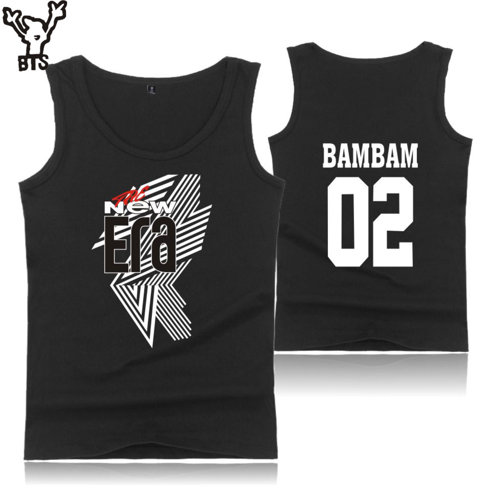BTS 2018 GOT7 FM The New Era Men Sexy Cool Summer Popular Hot Sale Vest Sleeveless Shirt Funny Tank Top Fashion Print 4XL A8080