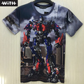 Fashion Transformers Film 3d Men Women T-shirt Autobots Optimus Prime Bumblebee Decepticons Megatron Dinosaur T Shirt  Newest