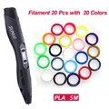 Принтер для 3d-ручки Sunlu  20 шт.  пластиковая ручка для печати  100 м  1 75 мм  PLA  защита от температуры