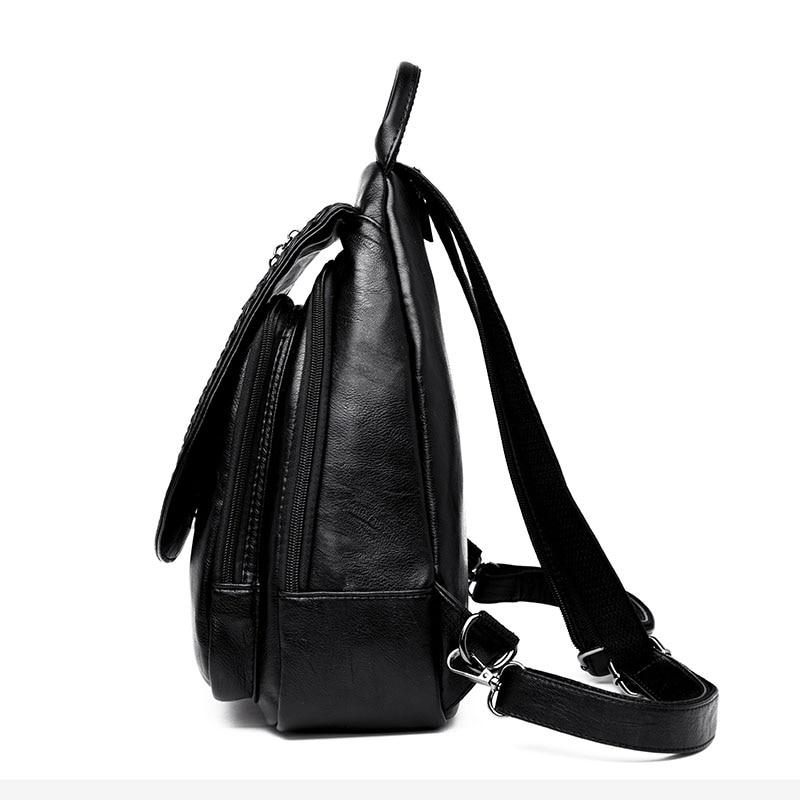 HTB1u8dOlrsrBKNjSZFpq6AXhFXaF Women Leather Backpacks Zipper Female Chest Bag Sac a Dos Travel Back Pack Ladies Bagpack Mochilas School Bags For Teenage Girls