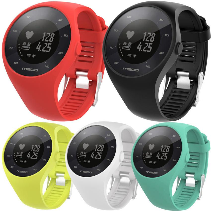 Watch-Band Polar-M200 Strap Wrist Soft-Silicone for Fitness 15J Rubber