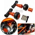 High Quality Motorcycle Aluminum Orange Motorbike Left and Right Frame Slider Anti Crash Protector For KTM DUKE 125 200 390