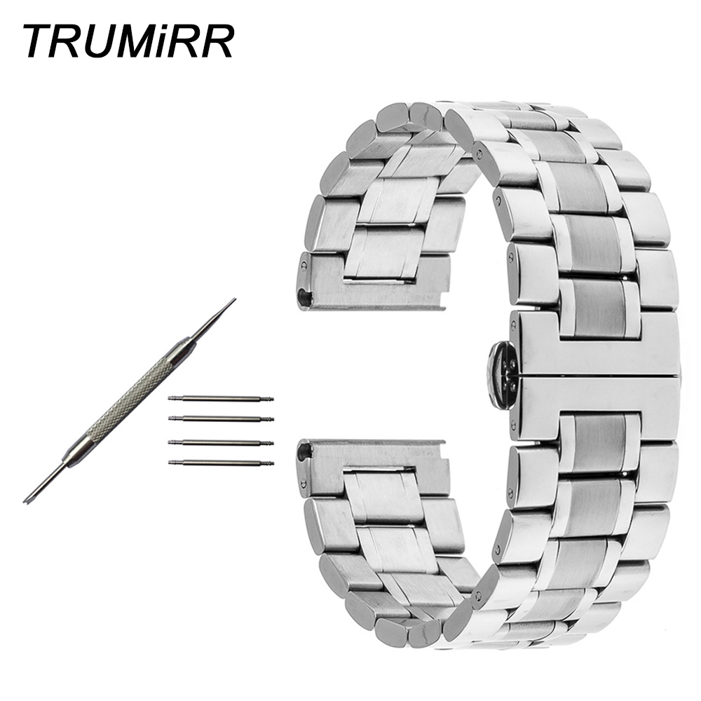 22mm 24mm Stainless Steel Watchband Butterfly Buckle Strap for Panerai PAM Luminor Radiomir Watch Band Wrist Belt Bracelet +Tool цена