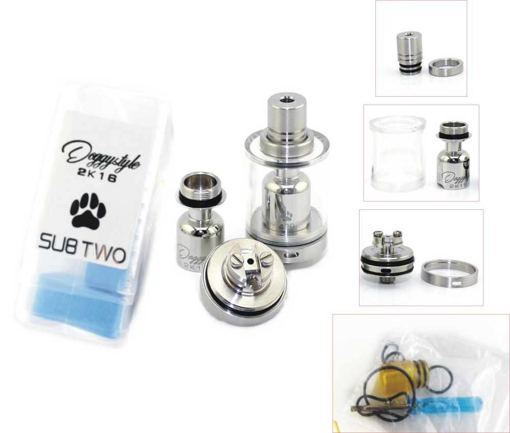 5ps SXK Doggy Style RTA RDA RDTA Tank For Vaporizer Box Mod Spray DIY Quality Hookah Atomizer E-Cigarette 316 Stainless Steel