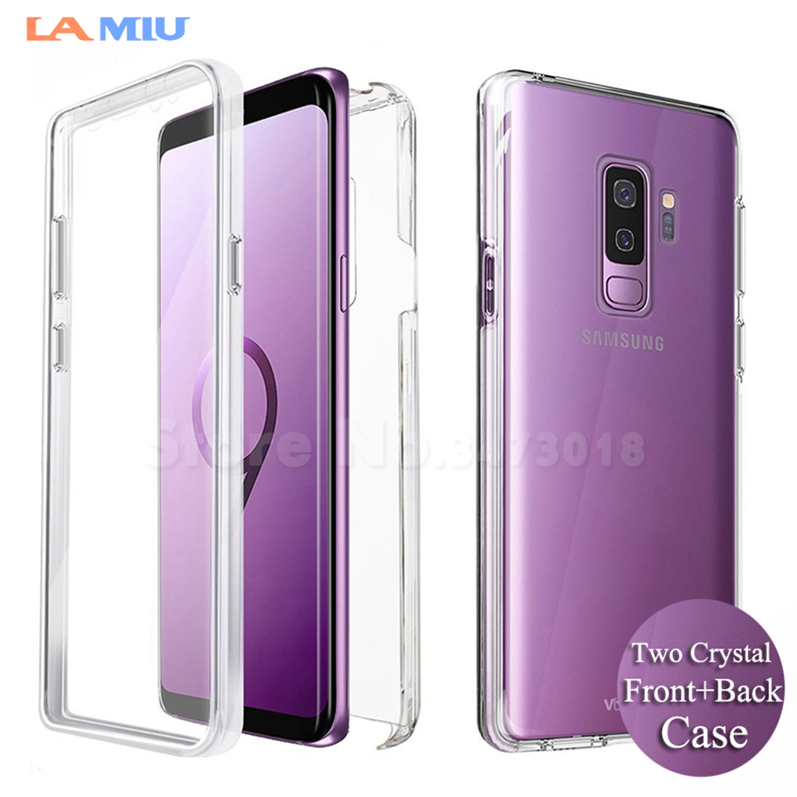 LA MIU For Samsung Galaxy Note 9 Case S8 S9 Plus Note 8 Front+Back Case 360  Degree Full Body Two Crystal TPU Case 177fcd7ba3f8