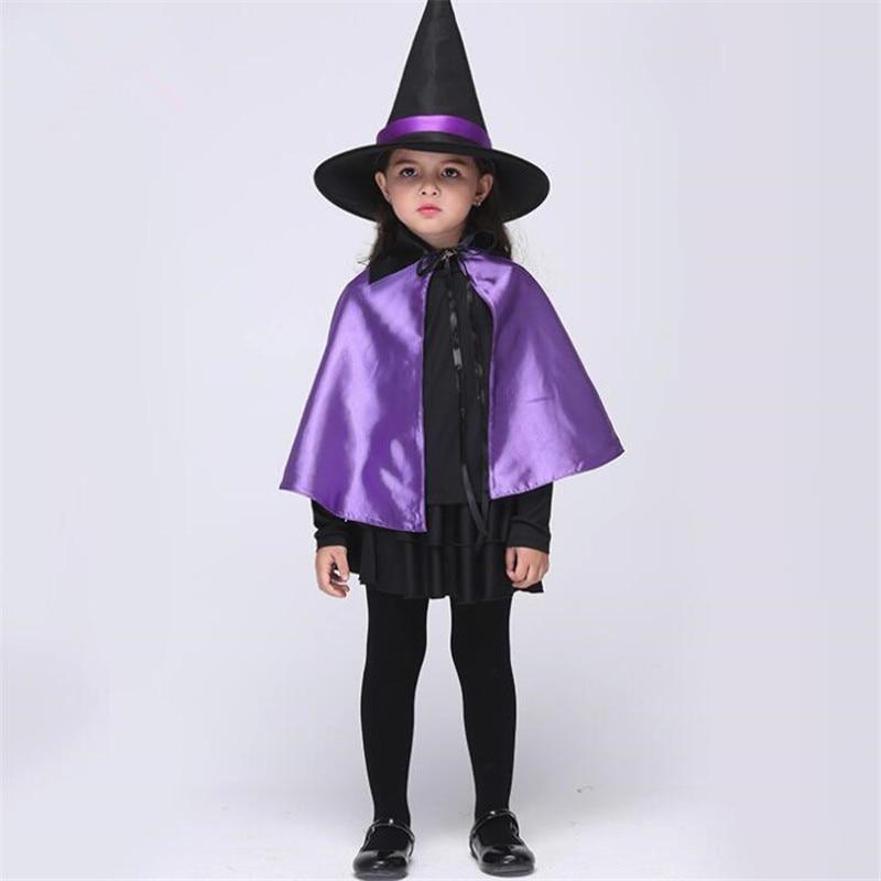 Children Movie Purple Cloak Magic Girls Cosplay Costumes Sets Holiday Dance Party Performance Wear Halloween