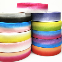 U PICK 5/10meter 25mm Gradient color Organza Ribbons for Wedding Home Decor DIY Gift Wrapping Handmade Accessories
