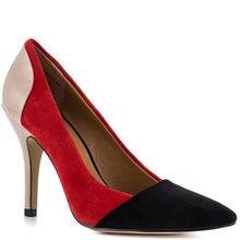 Mature Patchwork Large Size Shoes Woman Handmade Pump High Heels Slip-On Summer Style Stilettos 2015 Ladies Pumps Plus Size US14